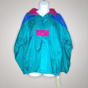 COLUMBIA vintage color block windbreaker pullover